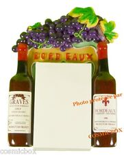 MAGNET aimant BLOC NOTE publicité résine pub bouteilles vin de BORDEAUX GRAVES