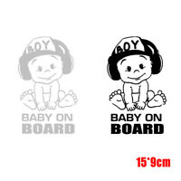 Hot Baby On Board Vinyl Sticker Car Sticker Window Decal Car Accessories 15*9cm