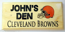 Personalizzata Football Americano DEN Placca/sign-Cleveland Browns CASCO Capanno