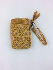 Longaberger Golden Fields Sisters Wristlet Wallet Cell Phone Holder