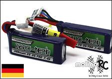 2x Turnigy nano-tech 300mah 2S 35~70C NEU Lipo Akku 7,4V JST