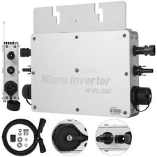 600W 110V Solar Grid Tie Micro Inverter Waterproof Intelligent MPPT