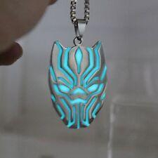 Black Panther Necklace Pendant Glow Dark Luminous Locket Magic Moon Steampunk Us