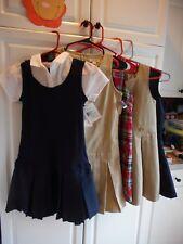 Young Girls Uniform Dresses 3-Size 8, 2-Size 12, 2-Size 10/12 & 12