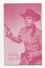 Allan Lane 1940's 1950's Cowboy Red Salutations Exhibit Penny Arcade Card
