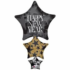 """New Years Eve Party Supplies """"Happy New Year"""" Giant Stacker Foil Balloon 107cm"""