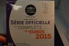 Frankreich Offizieller Kursmünzensatz 1 Cent bis 2 € 2015 stempelglanz