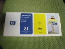 New ! Genuine HP Designjet Series 5000 yellow Dye Ink Cartridge HP 81 C4933A