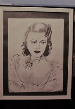 1940's pen and ink drawing - woman