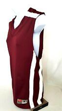 Nike Dri Fit Womens Top Sleeveless V Neck Burgundy White Size Small