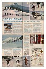 1978 : document  (Ref Ima 205 ) :  SKI DE FOND  LA METRALLIERE HAUTE SAVOIE 4p