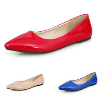 Patent Flats Ballerinas ccc Pumps Pointed Toe Shoes Womens Ballet Plus Size 2-14