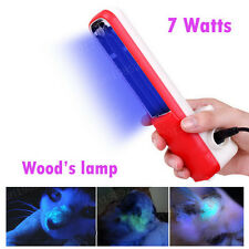 7W Handheld Portable Black Light for Skin Care Ringworm Diagnosis Wood's Lamp
