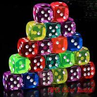 de seis lados Moda Juego de mesa Fichas de poker Herramienta de juego Dados