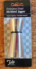 TALA BARWARE STAINLESS STEEL 25/50ML DUAL JIGGER MEASURE FOR SPIRITS & DRINKS