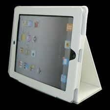 New Apple iPad 3 iPad2 White Premium Leather Case Pouch Flip Stand (PU)