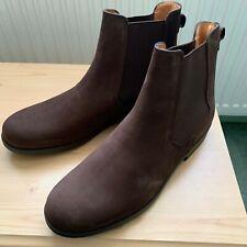 AIGLE ORZAC Men's Leather Chelsea Jodhpur Boots BROWN UK 10.5 EU 45 NEW IN BOX