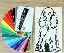 Cocker Spaniel Dog Sticker Vinyl Decal Adhesive For Car Window Wall Laptop Black
