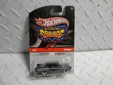 Hot Wheels Wayne's Garage #7 Plat Noir '57 Chevy Bel Air W / Real Rider Roues