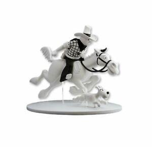Figura de colección Tintín, Cowboy al Galope y Milú en América - Moulinsart