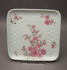 Bernardaud Limoges Porcelaine Perette rosa Blume Frankreich viereckige Schale