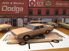 Papercraft 1972 Dodge Polara Unmarked State Police Paper Model Car EZU-make