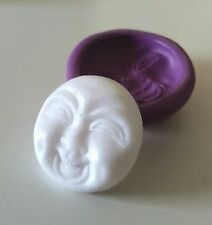 Laughing Buddha FACE Silicone Mould 30 mm Spiritual Resin Clay Fimo Icing PMC