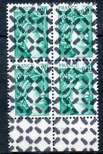 RARE / TIMBRE FRANCE N° 1967  BLOC DE 4 TIMBRE OBLITERE ANNULE POUR REVERSEMENT