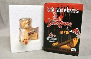 BAD TASTE BEAR FIGURE FOR JULY 2005 - 'HERTZ' - NO 127 - BOXED DUNGEONS SERIES.