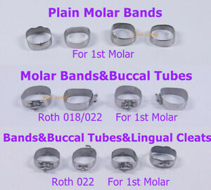Dental Orthodontic 1st Plain Molar Bands #29-44+ Buccal Tubes Cleats Roth 022