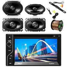 "6.5'' Stereo, Rear View Camera, 2x Pioneer 6x8"" and 2x 4x6"" Speakers & 50' Wire"
