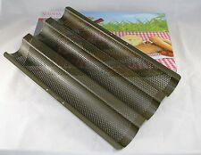 Städter Baguette Backblech 37 x 23 cm Backform Baguettebackblech Baguetteblech