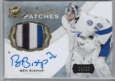 2014-15 UD THE CUP SIGNATURE PATCHES BEN BISHOP PATCH AUTO /99