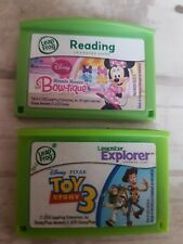 2 LEAP PAD GAMES TOY STORY 3 & MINNIE MOUSE BOUTIQUE Leapfrog Leappad 2 3 Ultra