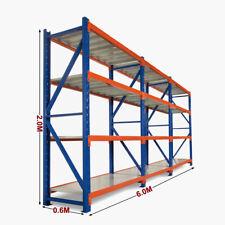 6M Medium Duty Garage Shelving Long Span Steel Warehouse Longspan Storage