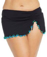 Profile by Gottex Plus Size Ruffled Slit Swim Skirt Bottom Black Size 22W