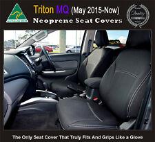 Mitsubishi MQ Triton Premium Neoprene Waterproof Airbag safe FRONT Seat Covers