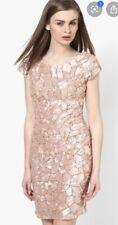Miss Selfridge Embellished Sequin Beaded Blush Pink Nude Gold Dress Size 6 £150