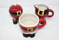 NEW Santa Clause 18 oz. Coffee Mug, Sugar and Creamer jars 3 pcs Christmas NEW