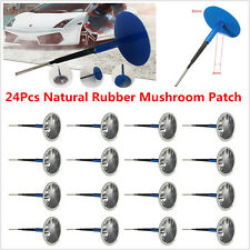 24pc Natural Rubber Tire Tyre Puncture Repair Wired 4mm Plug Mushroom Patch Blue