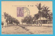 D.  Sao Tome  Avenida de coqueiros na Cidade    Postkarte  1937