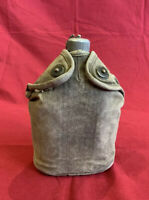 ORIGINAL WWI M1910 US Seamless Canteen w/ Cover - US Army Aluminum Made In 1918
