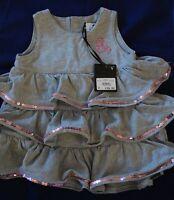 Baby Girl Designer Layer  sequin Jersey Dress 6 month BNWT