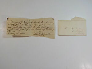 Cover Document 1868 Colonel Hunt Como Depot Panola County Mississippi Antique 1