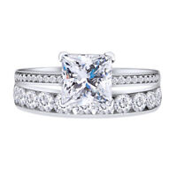 Summar Sale 3.2Ct Princess Diamond Channel Wedding Ring Wedding Band