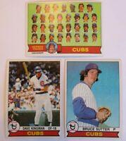 1979 Topps Chicago Cubs Team Set - (28) Cards - Bruce Sutter