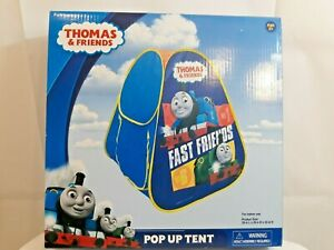 """THOMAS AND FRIENDS CHILDREN'S POP UP TENT """"FAST FRIENDS"""" indoor use 28"""" L X 28""""W"""