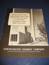 1950's Industrial Chimney Builders Catalog Consolidated