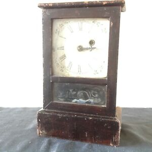 """Ansonia Mantle Clock Eight and One Day NEW YORK for repair 11"""" x 7"""" x 4"""""""