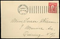 1904 Williamstown MA Cds, DOREMUS MACHINE CANCEL, Cover to Ossining NY, SC #311!
